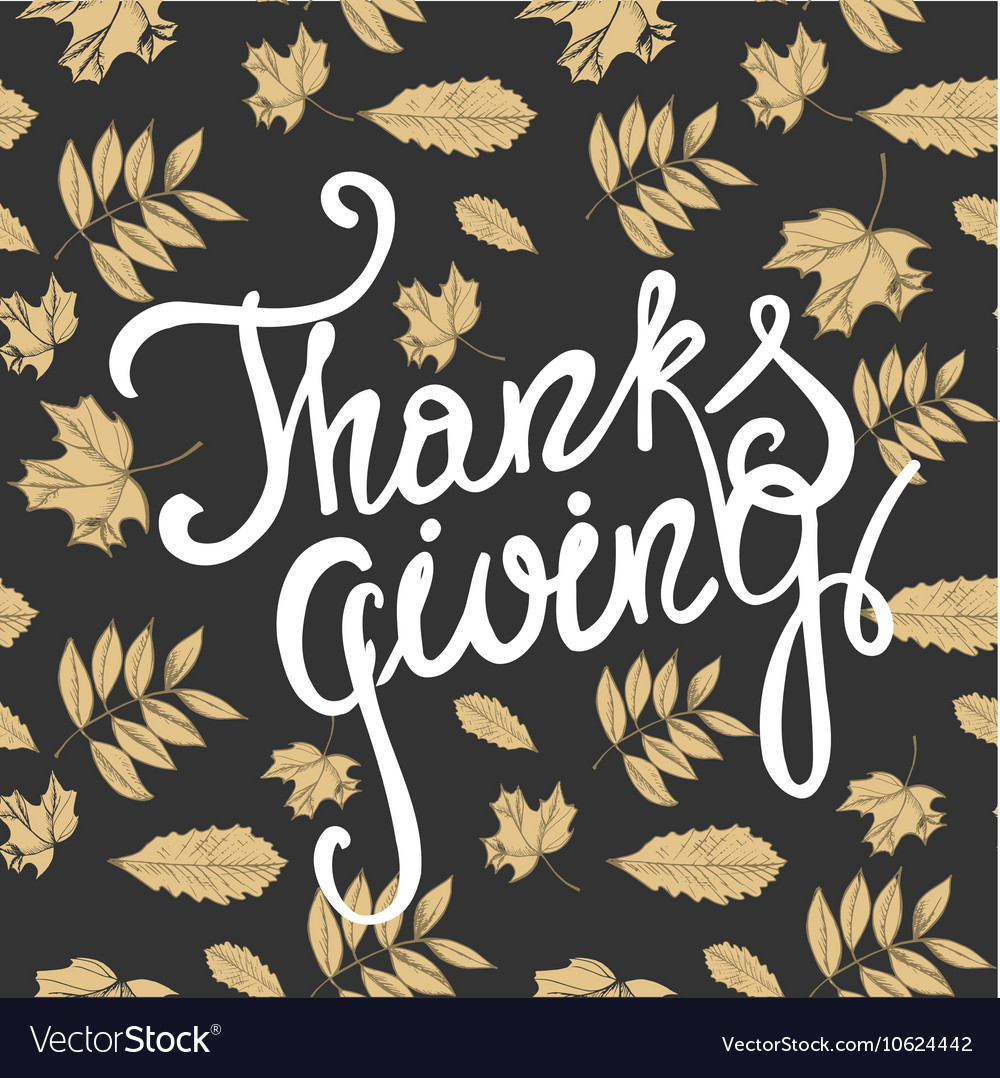 Happy thanksgiving day holiday background vector