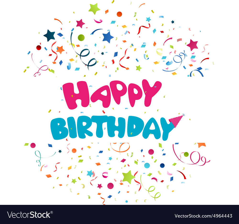 Colorful birthday background vector