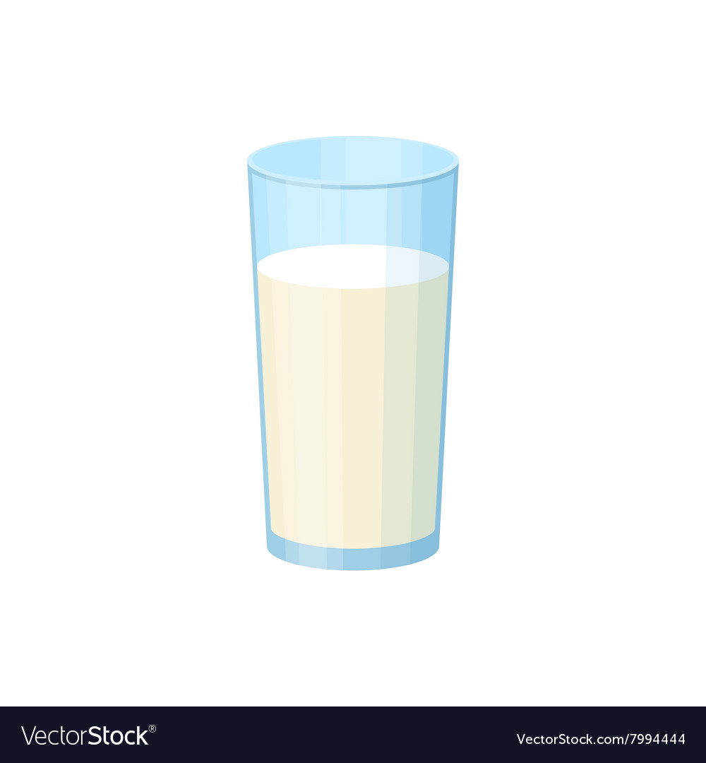 Glass of milk iicon cartoon style vector