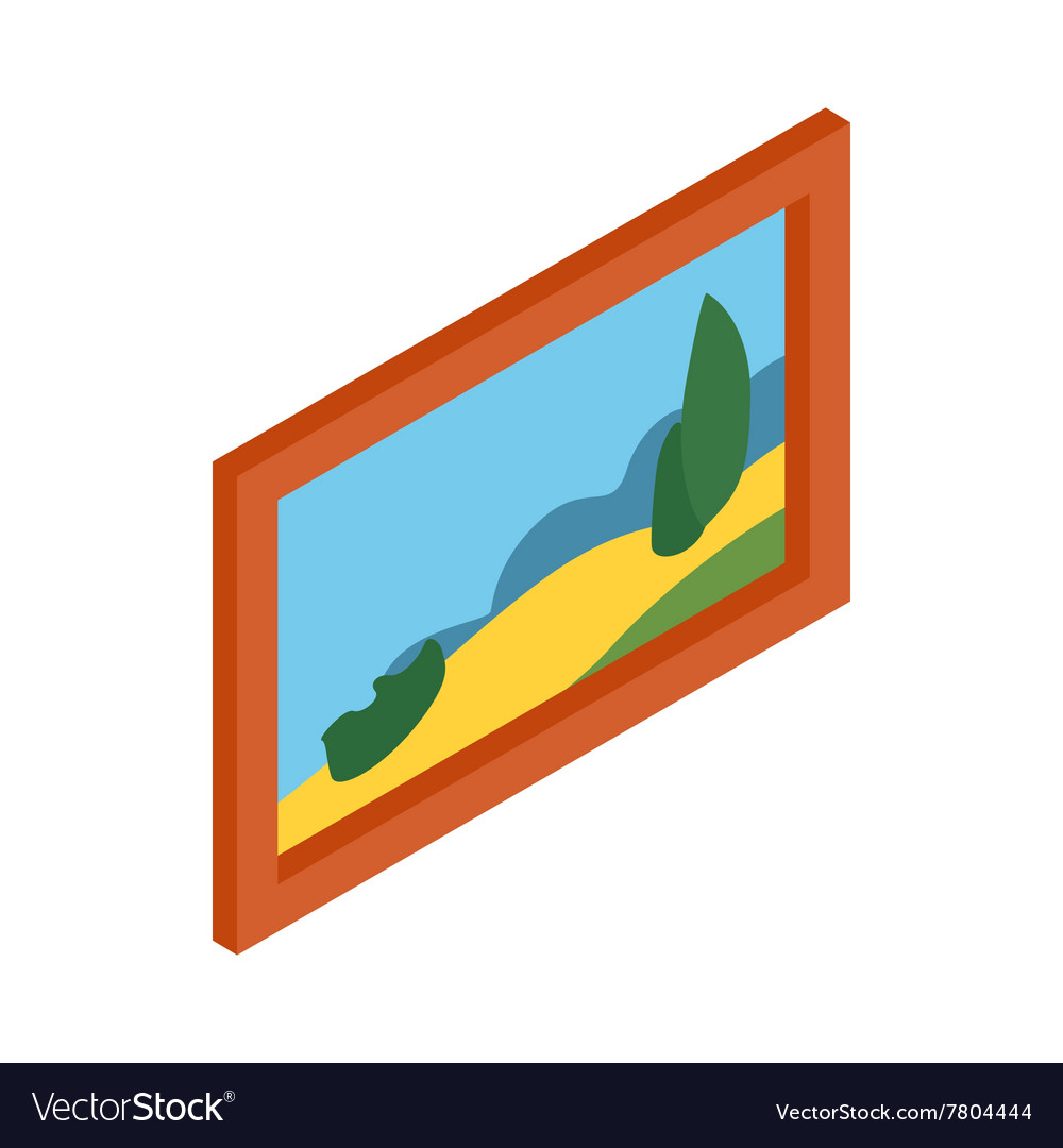 Museum picture icon vector