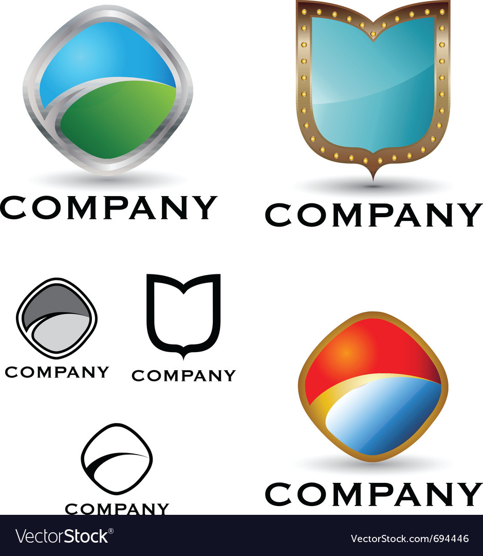Shield logo and icon set vector