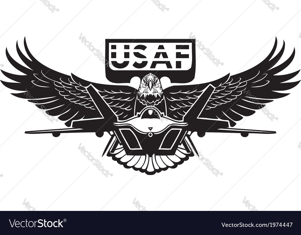 Us air force  military design vector