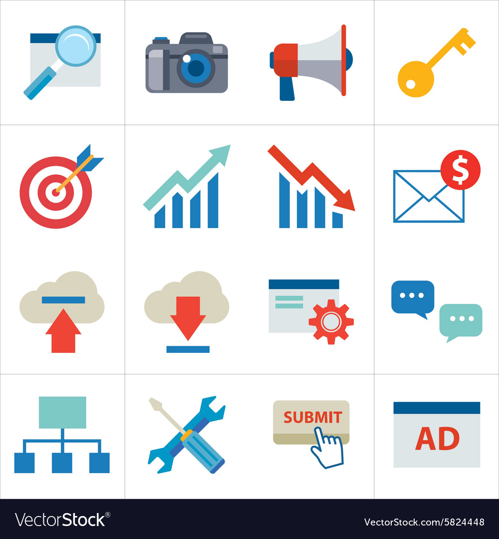 Seo flat icon vector