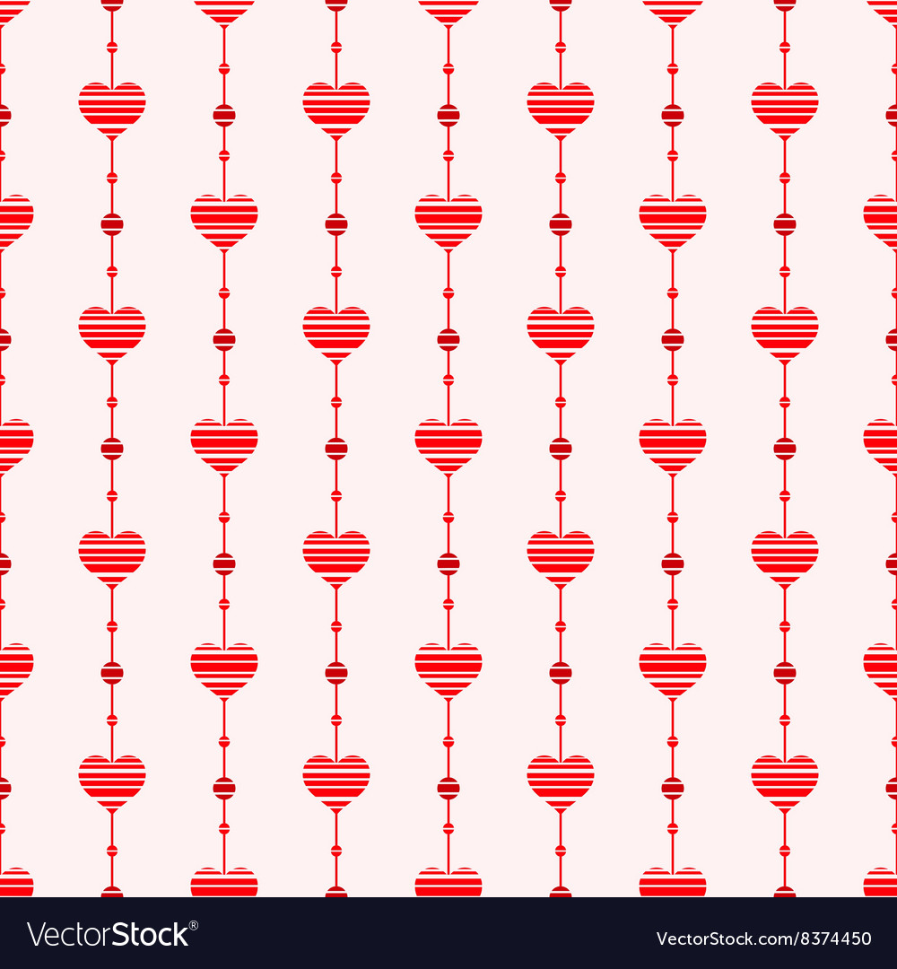 Abstract seamless pattern with hearts retro style vector
