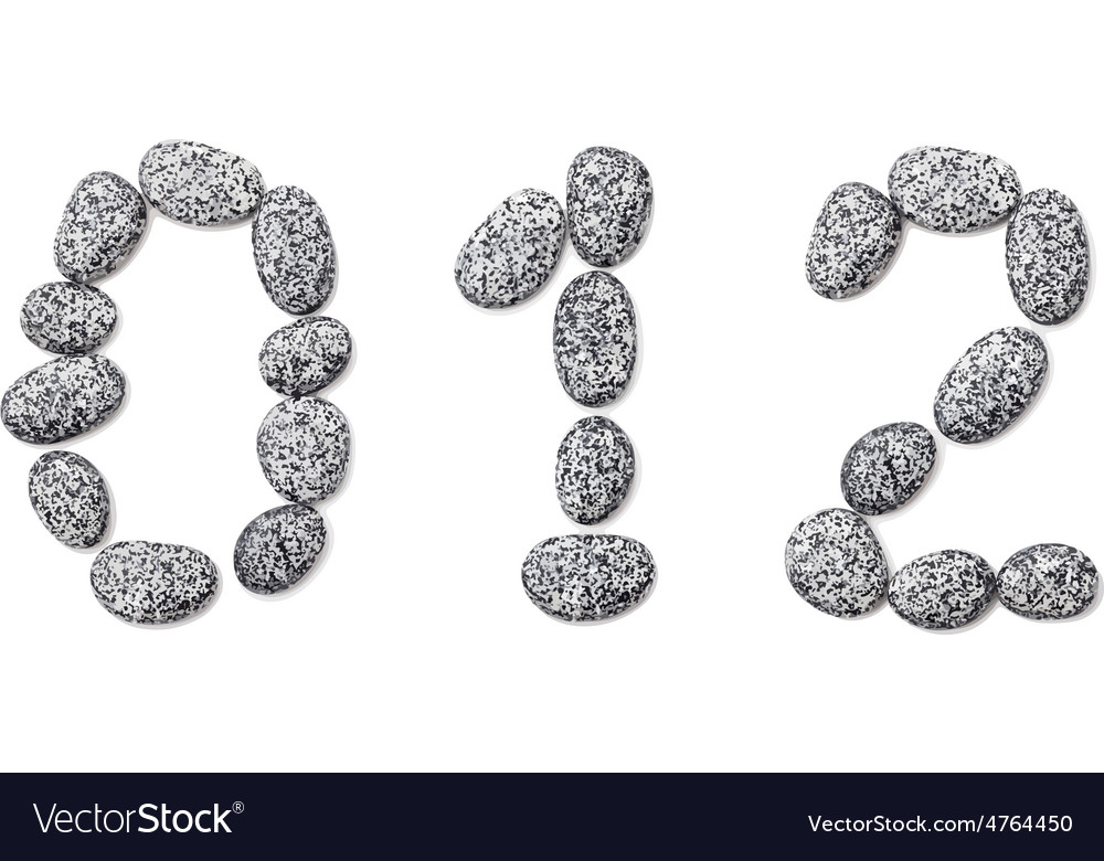 Stone font vector