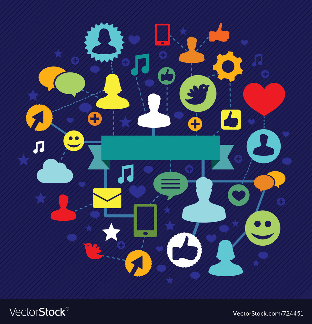 Social media concept  illustation vector