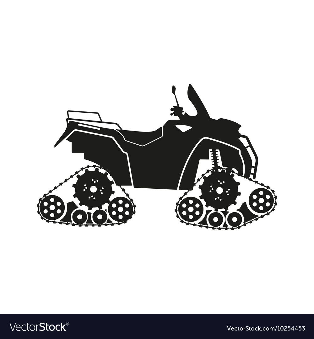 Black silhouette of the allterrain vehicle vector