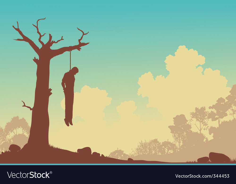 Hanging tree vector