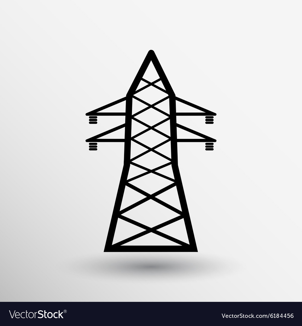 Highvoltage line icon button logo symbol concept vector