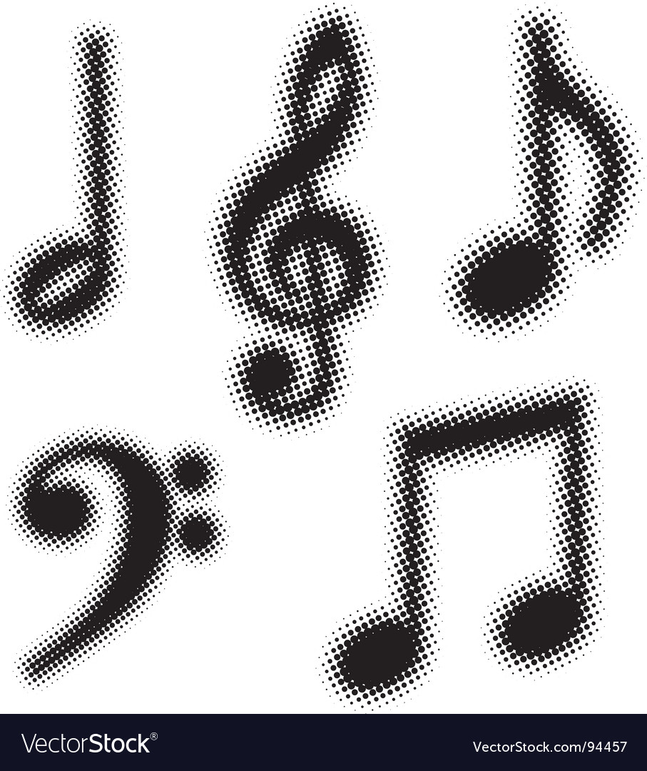 Music notes set vector