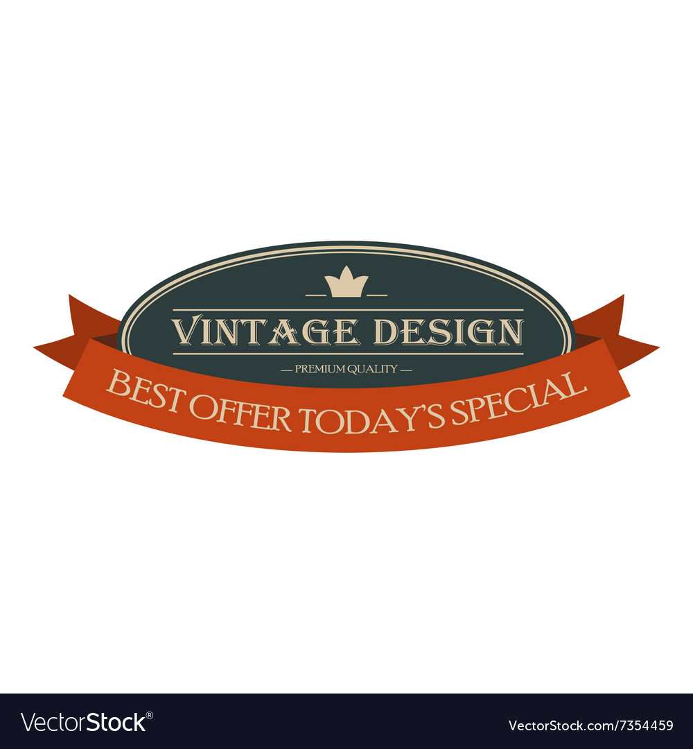 Best offer oval vintage banner vector