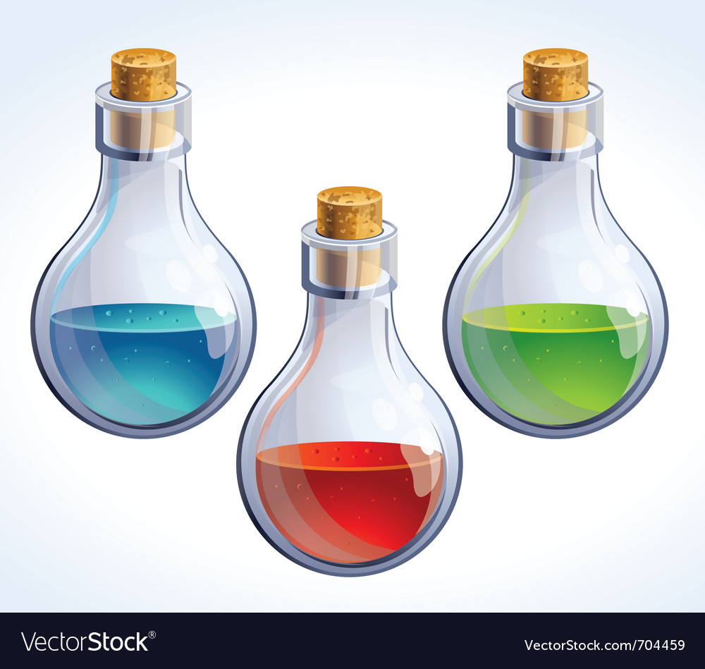Poison bottles vector