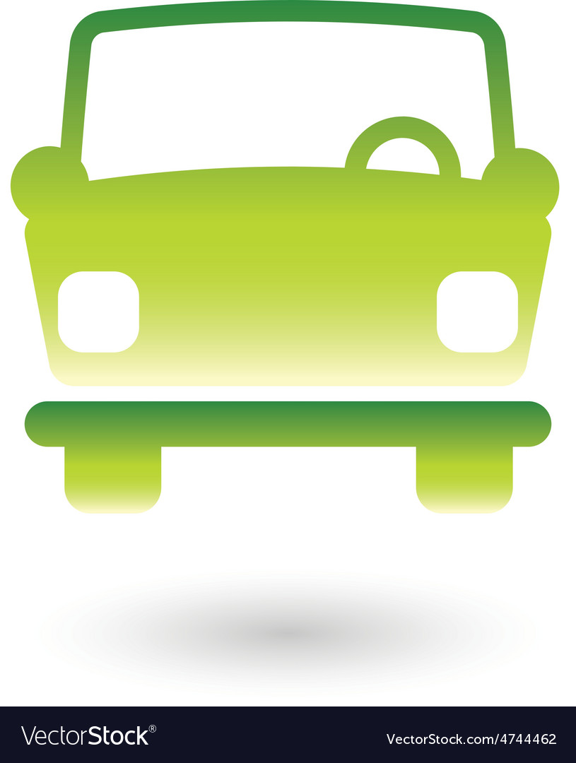 Green car 2 resize vector