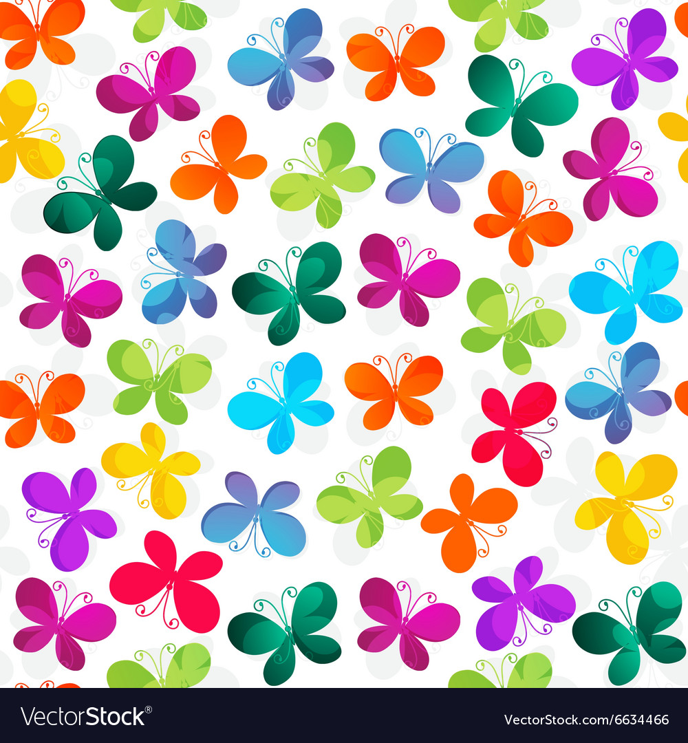Spring seamless white pattern vector