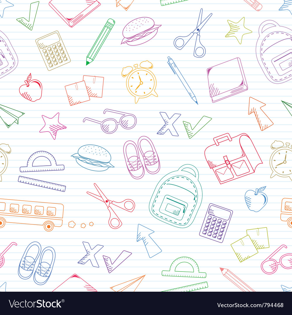 School doodles vector