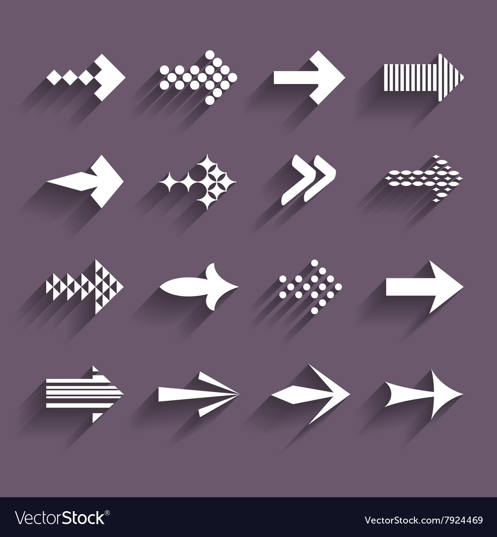 Collection of arrows vector