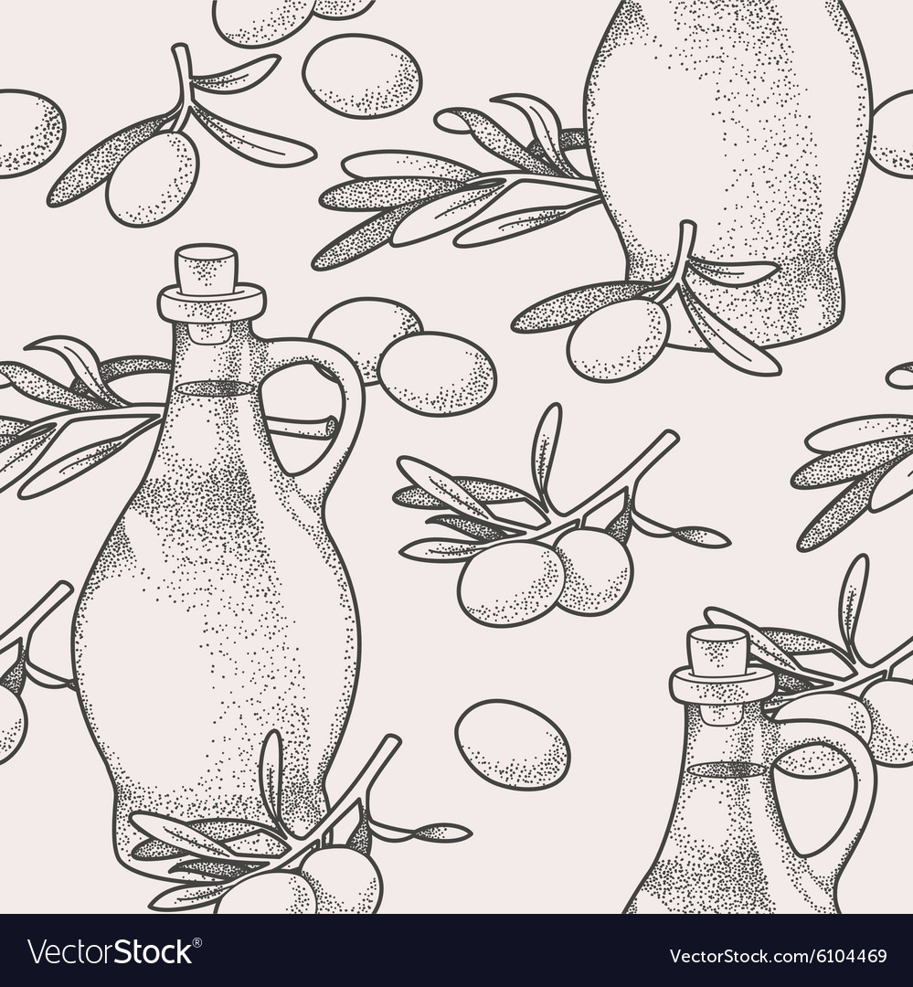 Seamless olive oil vector