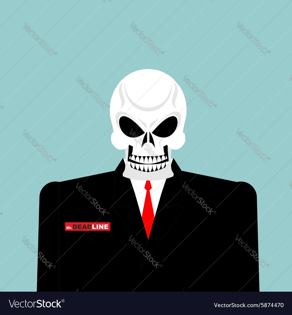 Mr deadline death of a businessman in a suit vector