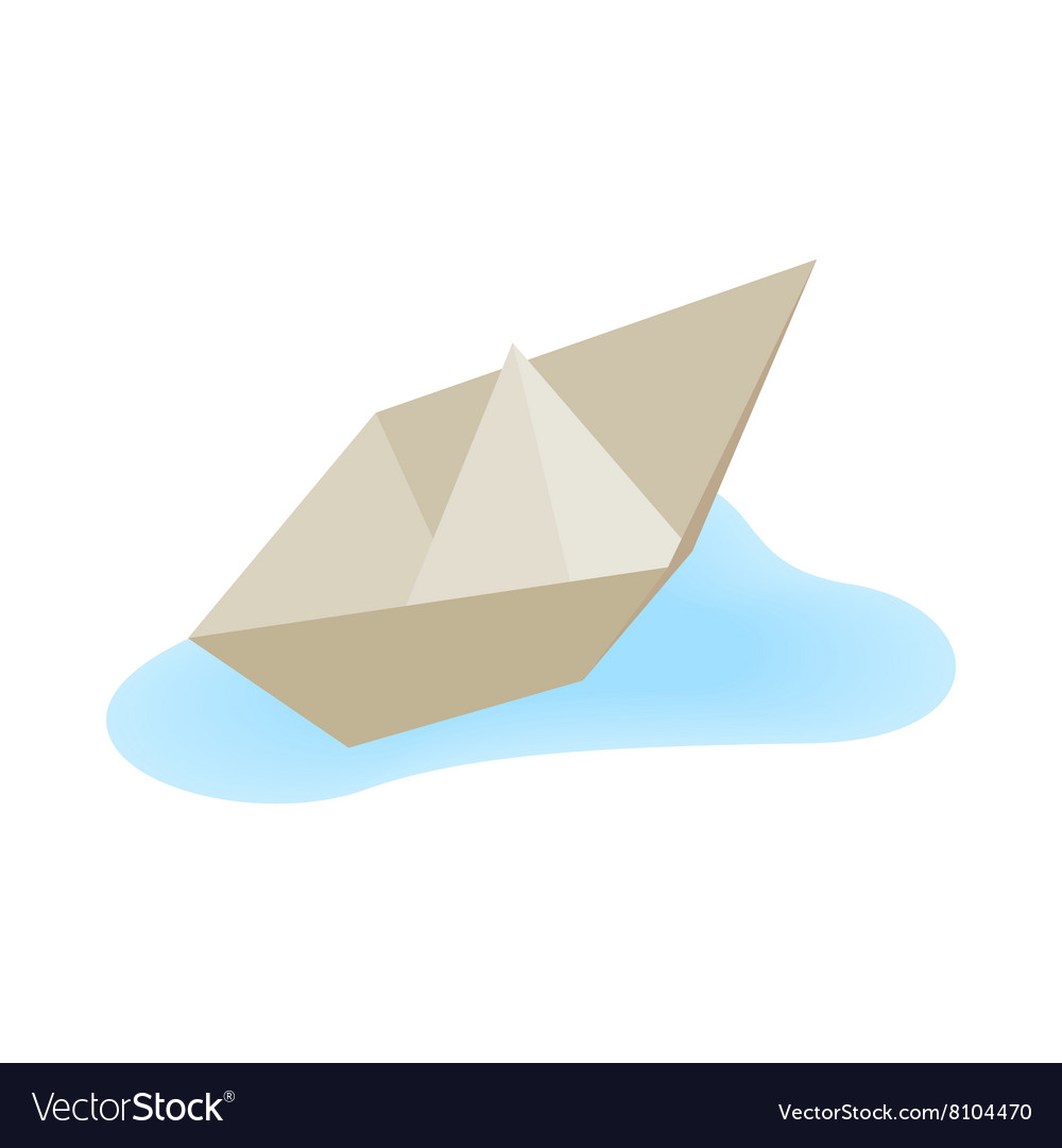 Paper boat icon isometric 3d style vector
