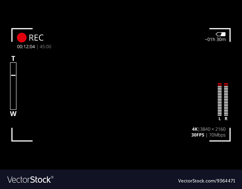 Camera viewfinder screen vector