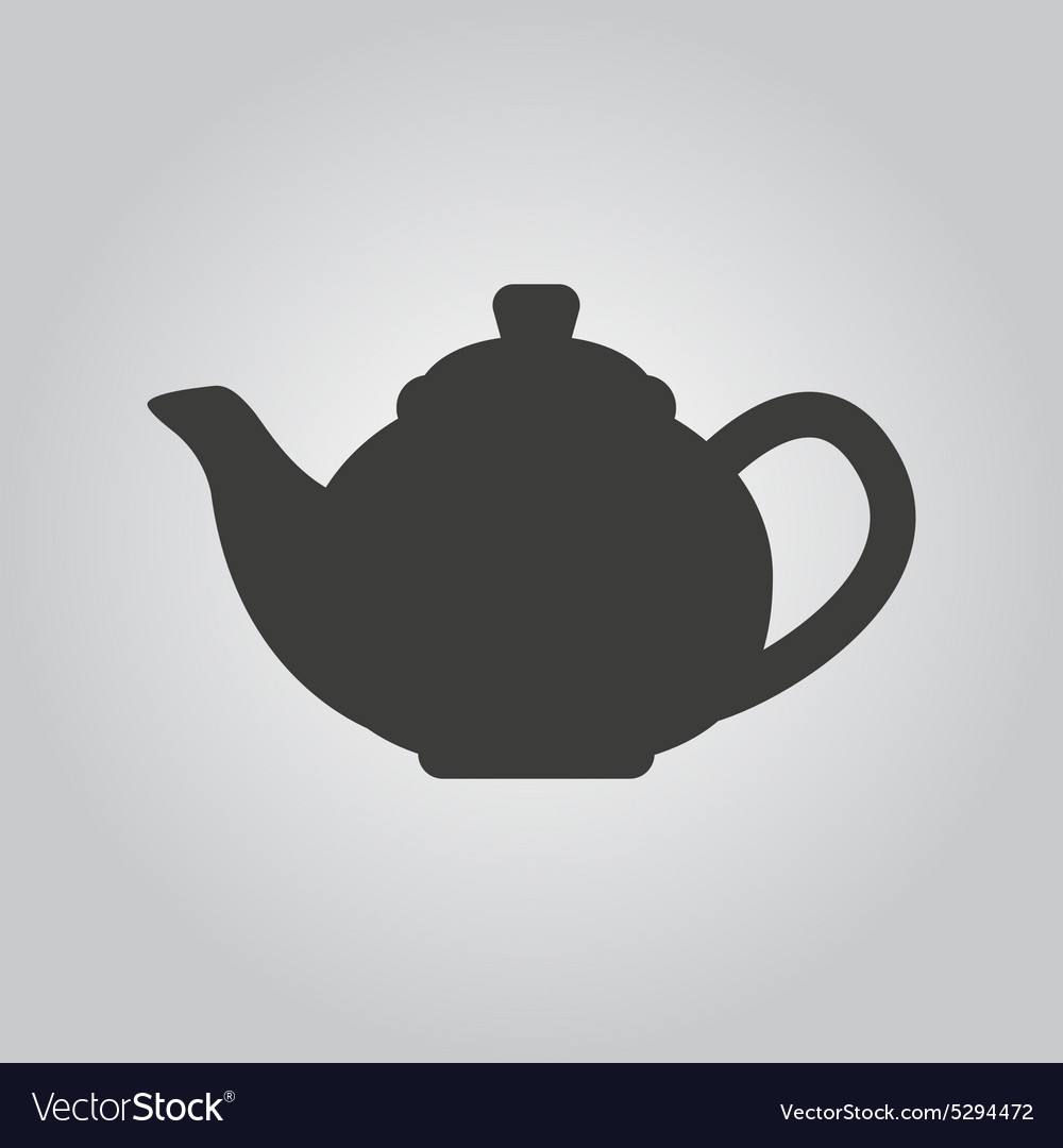 Teapot icon tea symbol flat vector