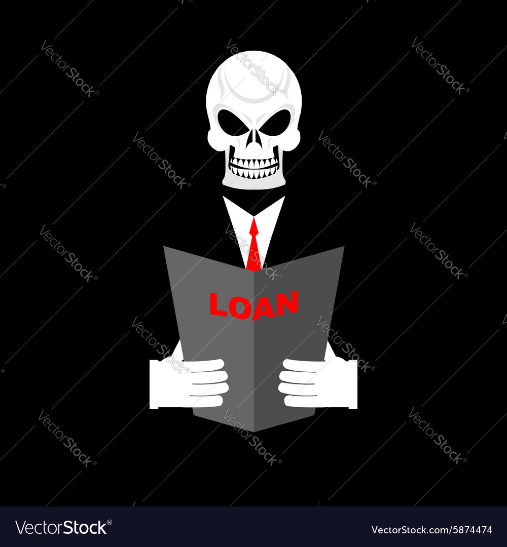 Death in office suit with a loan your personal vector