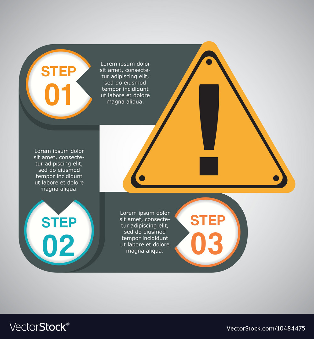 Infographic industrial security design vector
