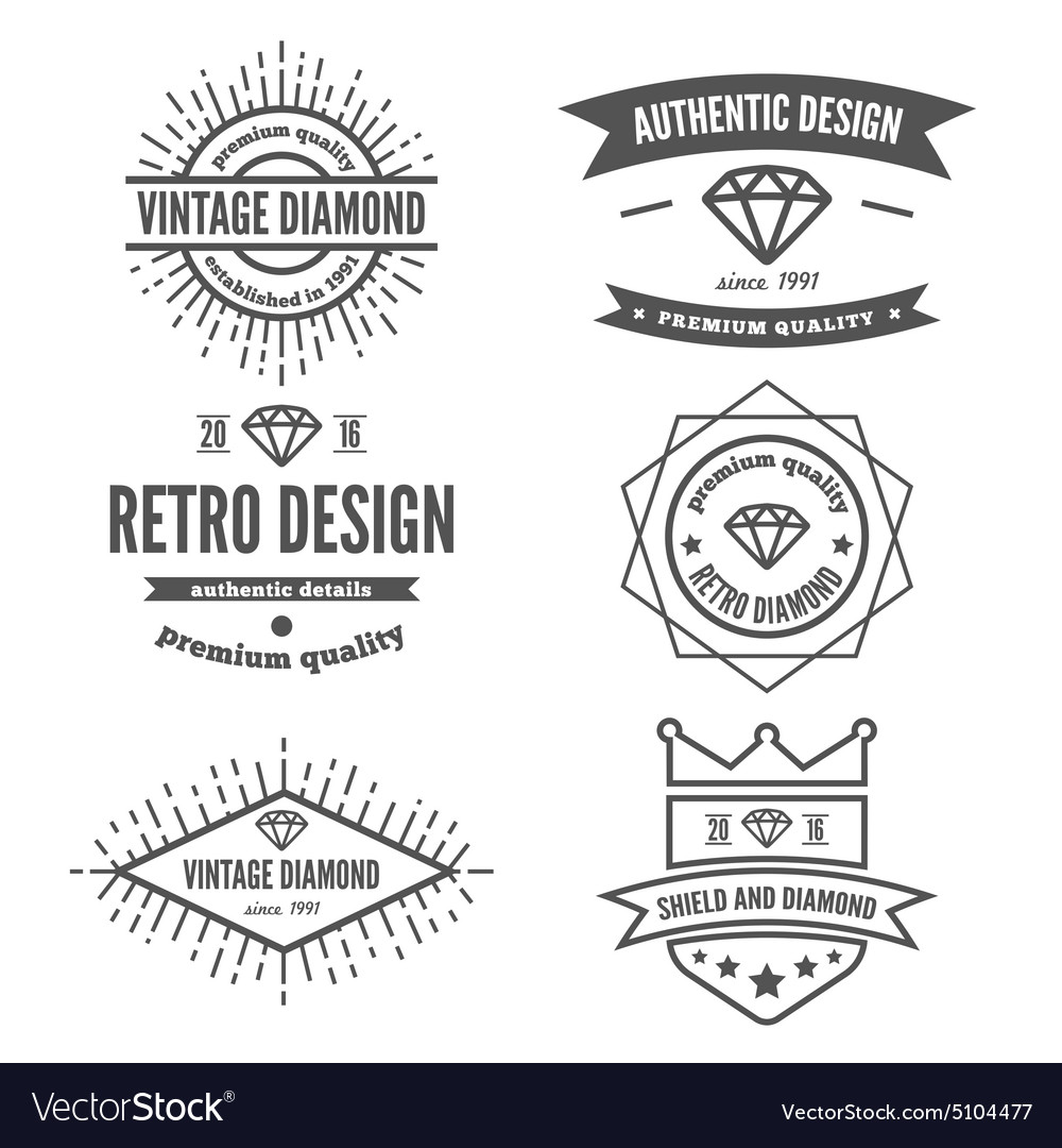 Set of vintage logo label badge and logotype vector