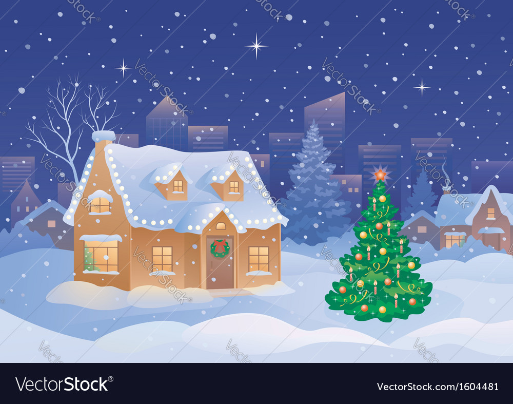 Christmas suburb vector
