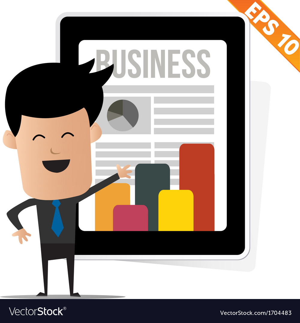 Business news on tablet   eps10 vector