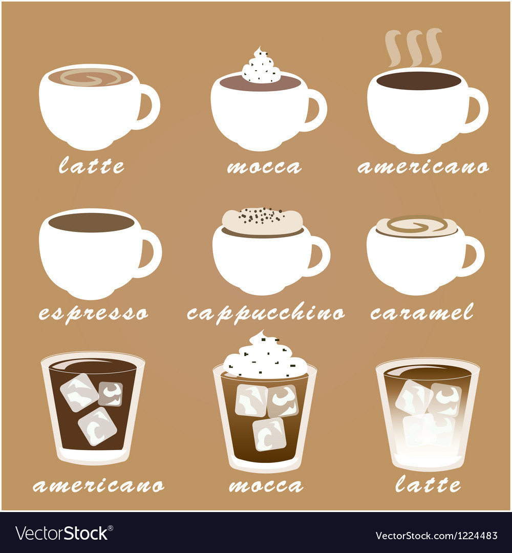Morning coffee set eps10 vector