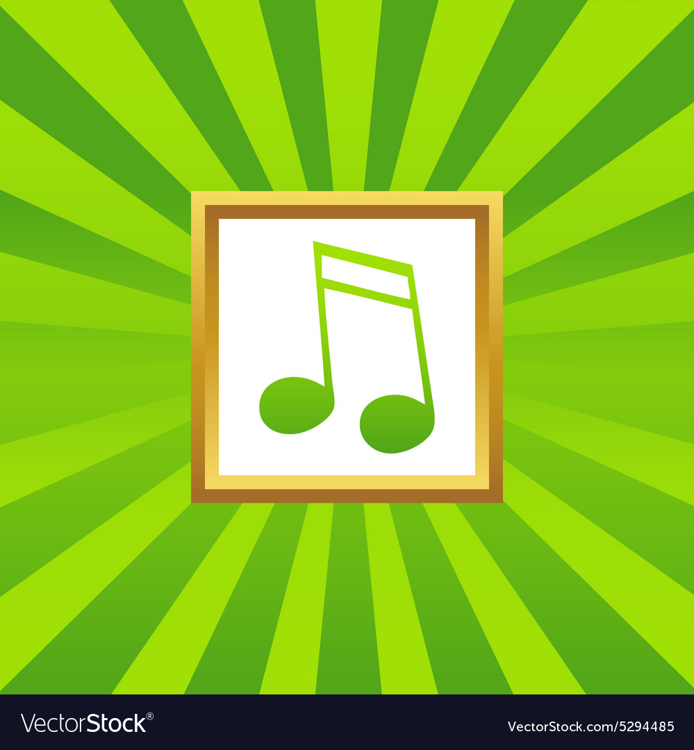 16th note picture icon vector