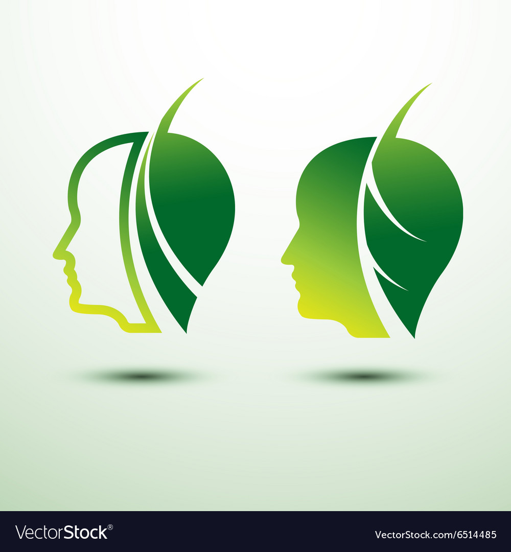 Eco head vector