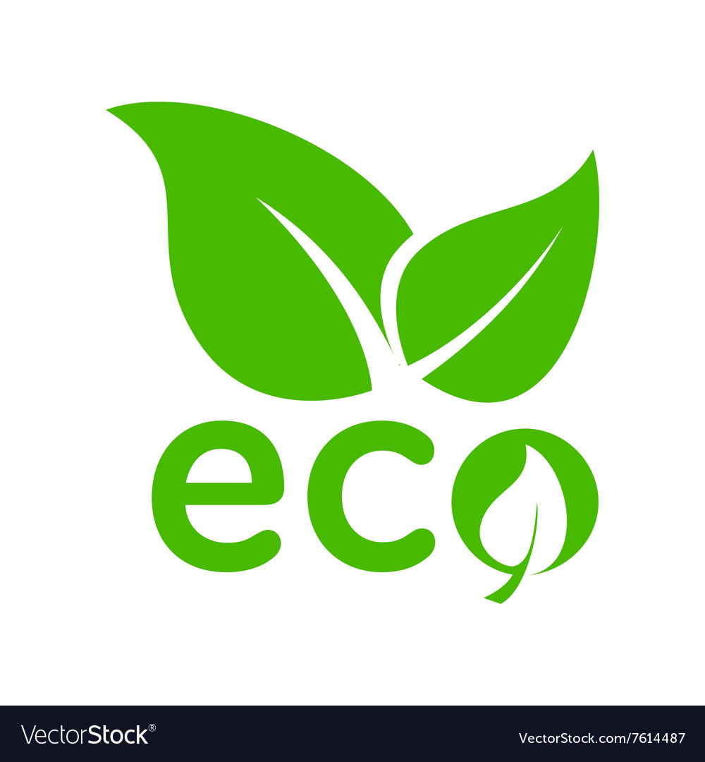 Leaves eco icon simple style vector