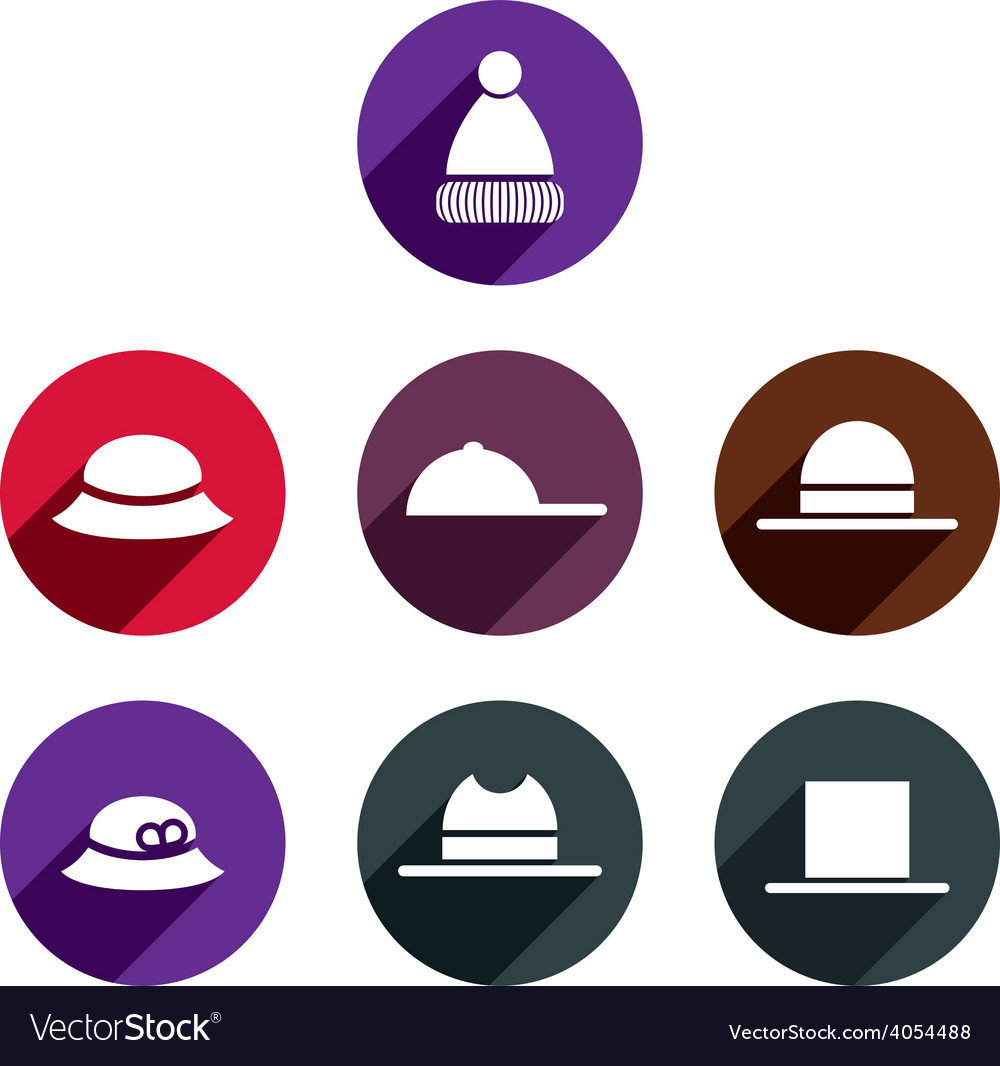 Headwear icon set vector