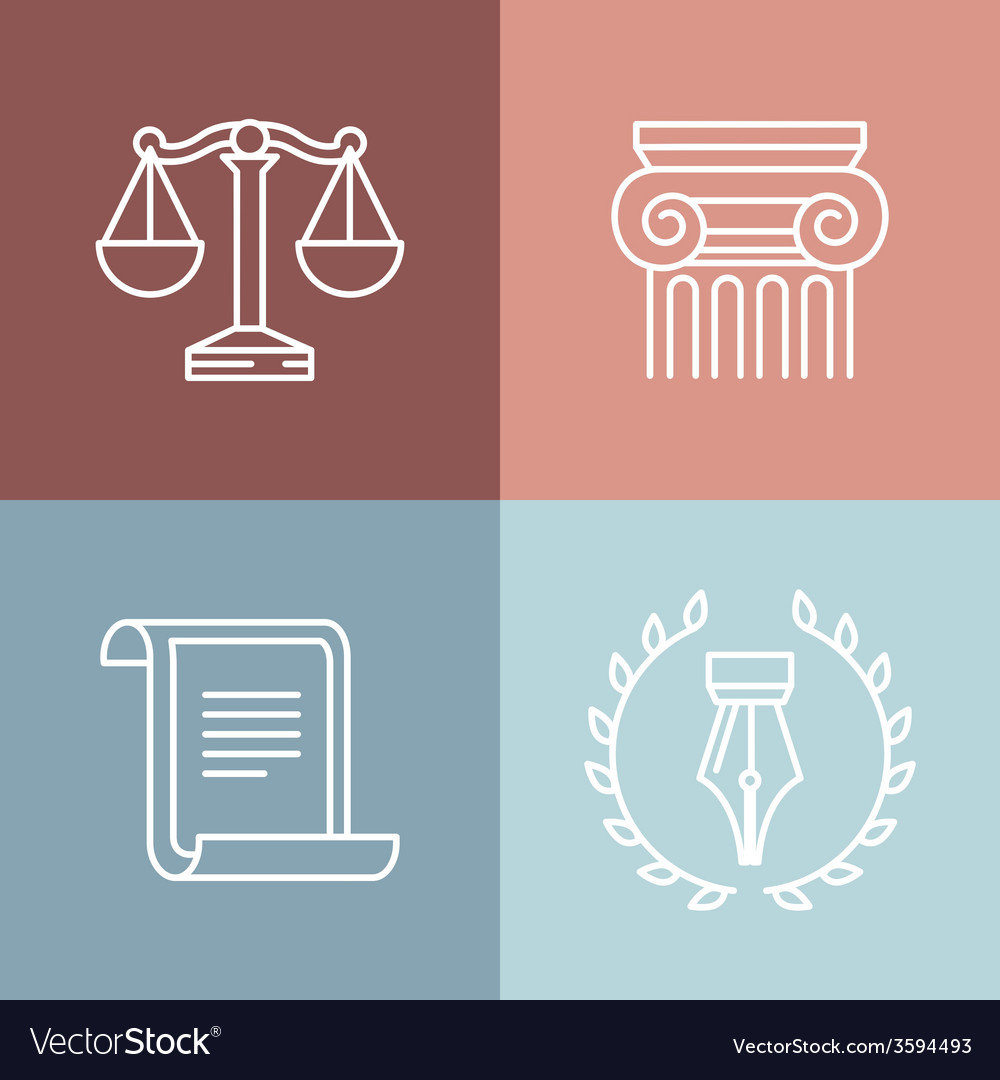 Set of juridical and legal logos vector