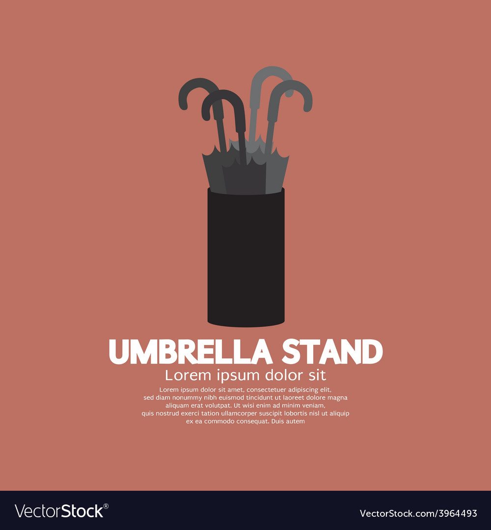 Umbrella stand vector