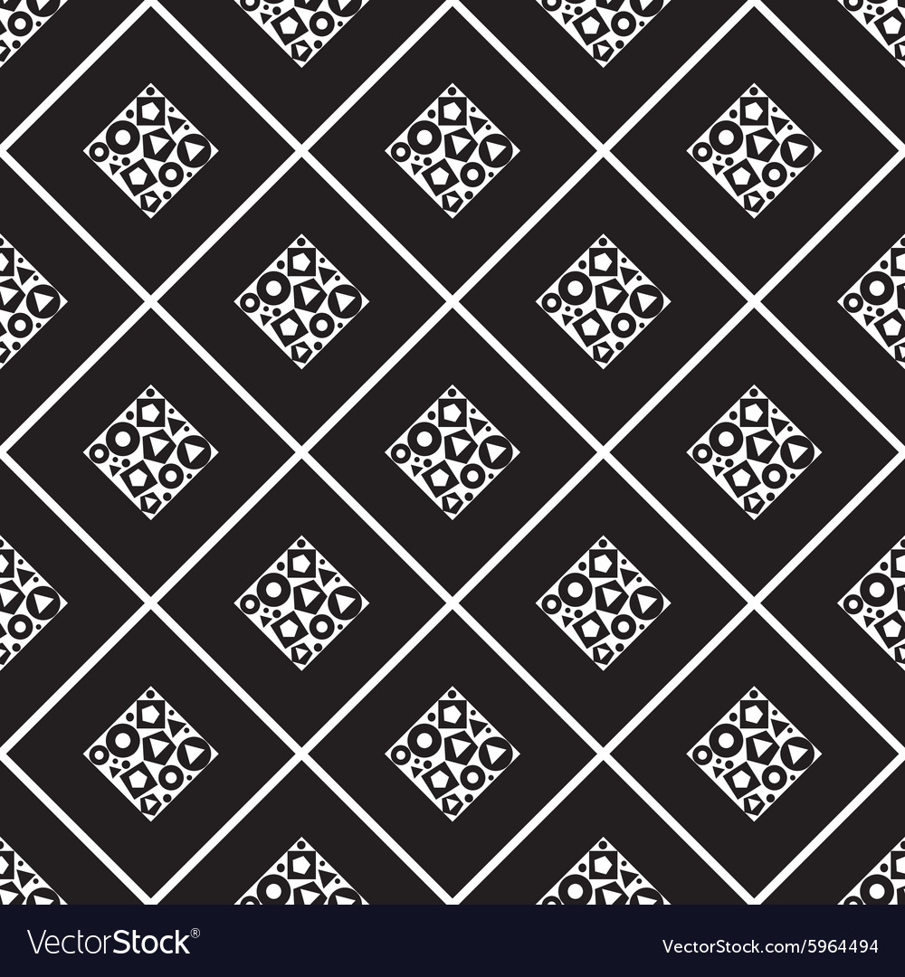 Seamless pattern of squares inside a different vector