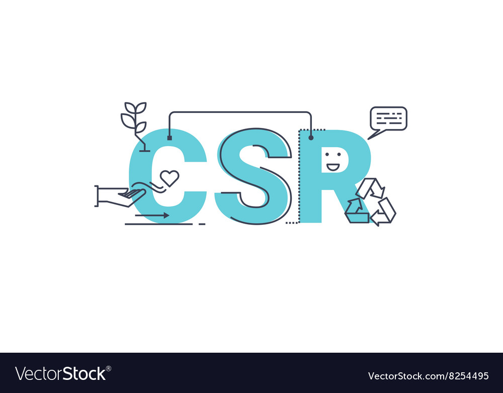 Corporate social responsibility vector