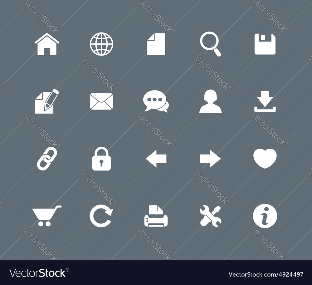 Website icons vector