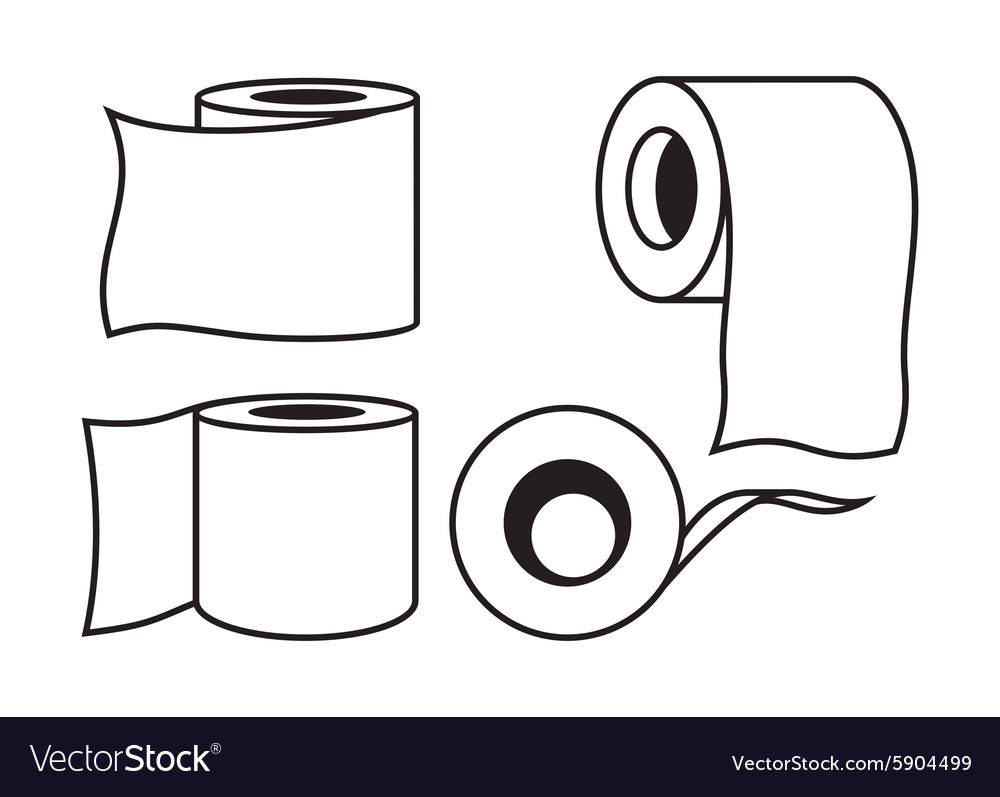 Toilet paper icon9 resize vector