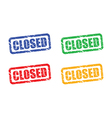 Closed set vector image