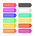 set of colorful flat ribbons labels for design vector image
