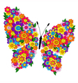 Spring bright floral butterfly vector image vector image