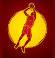 basketball player jumping and prepare shooting vector image