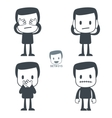 blind deaf mute icon vector image