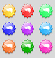 Liver icon sign symbol on nine wavy colourful vector image