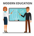 modern education business woman and man making vector image