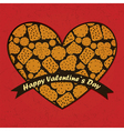 valentine day card with heart and cookies vector image