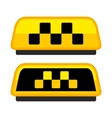 Yellow Taxi Logo Set with Boxes vector image